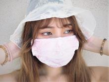KEAN103 #201 PINK LACE multi-purposes cloth mask factory Taiwan